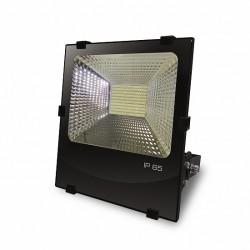Прожектор EUROELECTRIC LED SMD черный с радиатором 100W 6500K (LED-FLR-SMD-100)