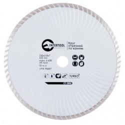 Диск отрезной Turbo, алмазный 230 мм, 16-18% INTERTOOL CT-2005
