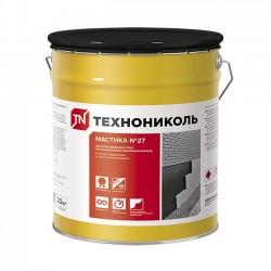 Мастика битумная приклеивающая ТехноНИКОЛЬ №27 готовая 22 кг.