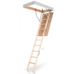 Деревянная трехсекционная чердачная лестница FAKRO OLN-B 120х60
