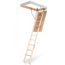 Деревянная трехсекционная чердачная лестница FAKRO OLN-B 120х70