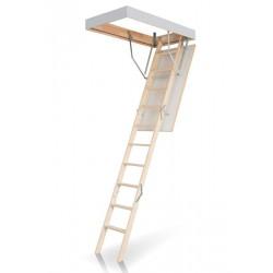 Деревянная трехсекционная чердачная лестница FAKRO OLK–B 120х70