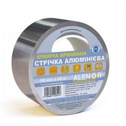 Лента самоклеящаяся алюминиевая армированная Аленор 75мм*40м