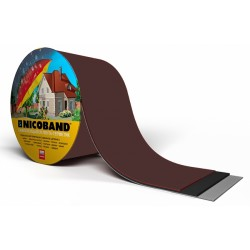Лента самоклеющаяся Nicoband коричневая 15см.*10м.