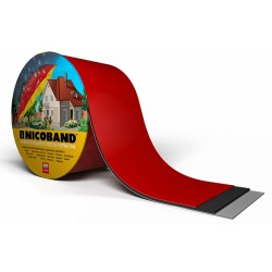 Лента самоклеющаяся Nicoband красная 20см.*10м.