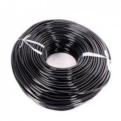 Трубка ПВХ для капельного полива чёрная 3,5*0,7мм.  200м. (PVH-3B)