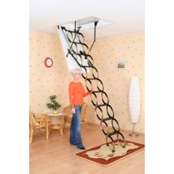 Металлическая раздвижная чердачная лестница Oman Nozycowe   (120x70) NO (металл/металл)