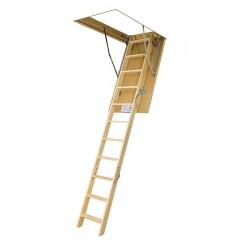 Деревянная трехсекционная чердачная лестница FAKRO LWS Smart 120х70