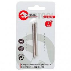 Коронка трубчатая по стеклу и керамике 4 мм INTERTOOL SD-0342