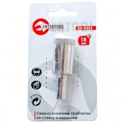 Коронка трубчатая по стеклу и керамике 18 мм INTERTOOL SD-0352