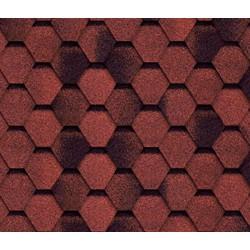 Битумная черепица TILERCAT Прима, красный, 3 м.кв./упаковка