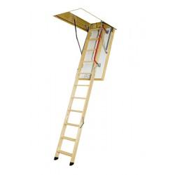 Деревянная трехсекционная чердачная лестница FAKRO LTK Thermo 130х70