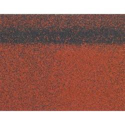 Коньково-карнизная черепица SHINGLAS, красный, 5 кв.м./упаковка