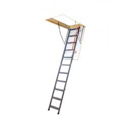 Металлическая трехсекционная чердачная лестница FAKRO LMK Komfort 120х70