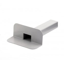Воронка переливная квадратная ПВХ Flagon, размер квадратного выхода 100*100 мм. В упаковке 10 шт./уп