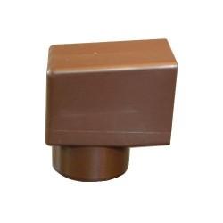 Адаптер к переливной воронке Flagon 100*100 мм., диаметр круглого выхода 100 мм. 10 шт./уп.