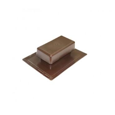 Аэратор скатный плоский Специальный ТехноНИКОЛЬ, коричневый