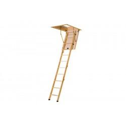 Деревянная четырехсекционная чердачная лестница VELUX VELTA Стандарт mini NLL 3620 92,5x70