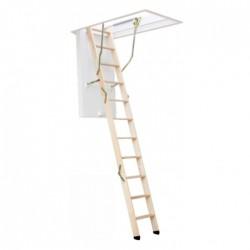 Деревянная трехсекционная чердачная лестница VELUX VELTA Премиум NLL 7630 120х70