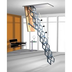 Алюминиевая раздвижная чердачная лестница ROTO Exclusiv 120x60