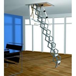 Алюминиевая раздвижная чердачная лестница ROTO Mini 120x60