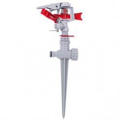 Дождеватель пульсирующий с полной/частичной зоной полива на костыле, круг/сектор полива до 12 м, PP,