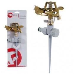 Дождеватель пульсирующий с полной/частичной зоной полива на костыле, круг/сектор полива до 12 м. Bra