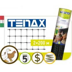 Сетка TENAX  'Авиари' для устройства содержания птиц и животных 2х200  черная