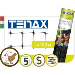 Сетка TENAX 'С-Флекс' для ограждения территорий 1х100 черная