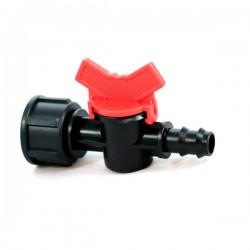 Кран стартовый с внутренней резьбой 3/4' для капельной трубки 16мм. (BF-011634)