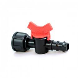 Кран стартовый с внутренней резьбой 3/4' для капельной трубки 20мм. (BF-012034)