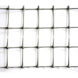 Сетка TENAX 'Миллениум' для ограждения жилых и спортивных территорий 2х50 серебро
