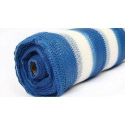 Затеняющая сетка Agreen 4х50 бело-голубая 70% затенения