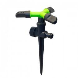 Вращающийся тройной дождеватель 'Луч' на ножке green (PS-8105G)