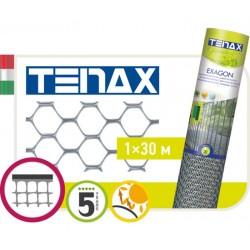 Сетка TENAX 'Эксагон' для ограждения клумб, балконов и защиты от кротов 1х30 серебро