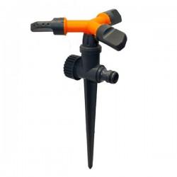 Вращающийся тройной дождеватель 'Луч' на ножке orange (PS-8105)