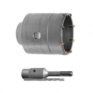 Комплект: сверло корончатое по бетону 55 мм и Переходник SDS Plus 100мм INTERTOOL SD-7055