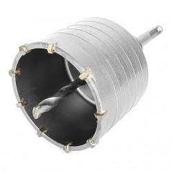 Комплект: сверло корончатое по бетону 75 мм и Переходник SDS Plus 100мм INTERTOOL SD-7075