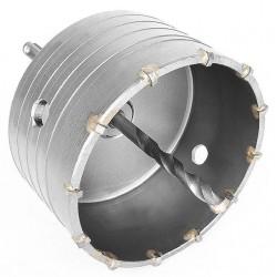 Комплект: сверло корончатое по бетону 105 мм и переходник SDS Plus 100мм INTERTOOL SD-7105