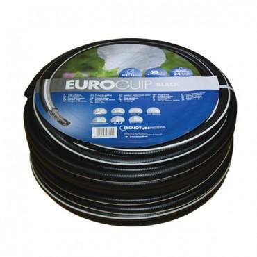 Садовый шланг для полива TecnoTubi Euro Guip Black 1/2'20м. (EGB-1/2-20)