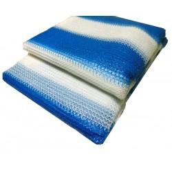 Затеняющая сетка Agreen 4х10 бело-голубая  70% затенения (фасованная)