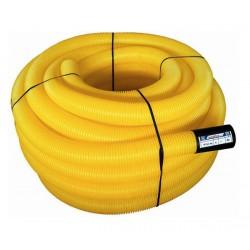 Дренажная ПВХ труба 100 мм, жёлтая (в бухте 50 м.)