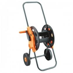 Тележка для шланга с колёсами чёрная 1/2'45м. (PS-3701)