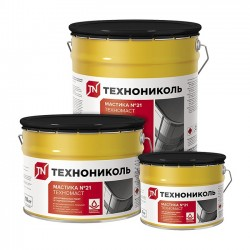 Мастика битумнополимерная Техномаст ТехноНИКОЛЬ №21 готовая 3 кг.