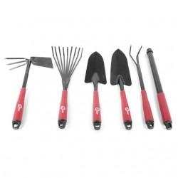 Набор огородный: лопата 330 мм, грабли 330 мм, грабли веерные 400 мм, сапка огородная 330 мм, удлини