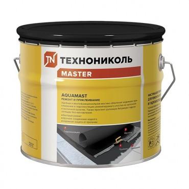 Мастика битумная AquaMast для ремонта и приклеивания готовая 10 кг.