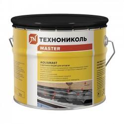 Мастика резинобитумная AquaMast для кровли готовая 10 кг.
