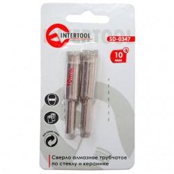 Коронка трубчатая по стеклу и керамике 10 мм INTERTOOL SD-0347