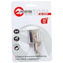 Коронка трубчатая по стеклу и керамике 30 мм INTERTOOL SD-0359