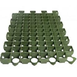 Решетка газонная Standartpark 60х40 пластиковая зеленая 3,8 см.